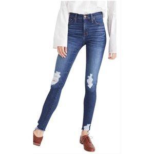 Madewell High Waisted Distressed Skinny Jean